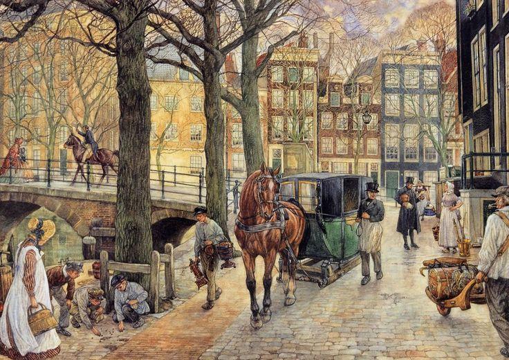 Stadsleven tegen het midden der 19e eeuw