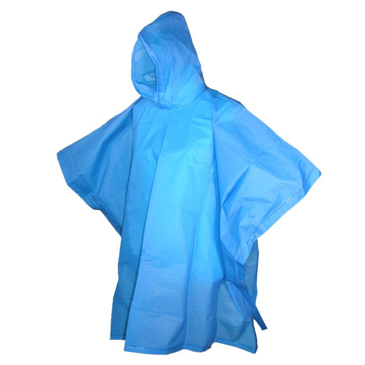 Kids Rain Poncho by Totes Isotoner. Hooded pull over with snaps. 2 pack of 1 color & 1 clear poncho