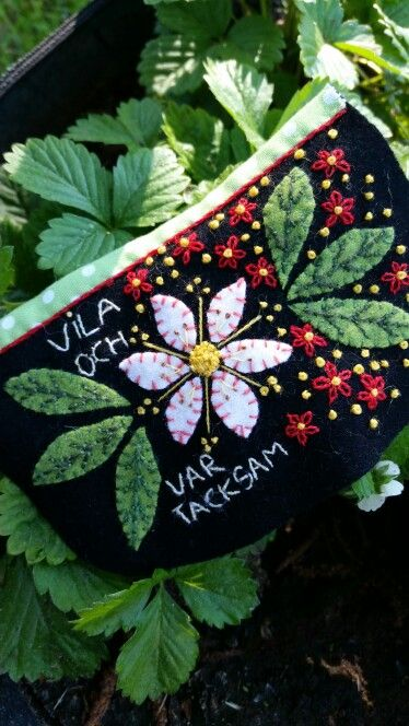 Marshma,  embroidery pouch by Pia Sjöstrand