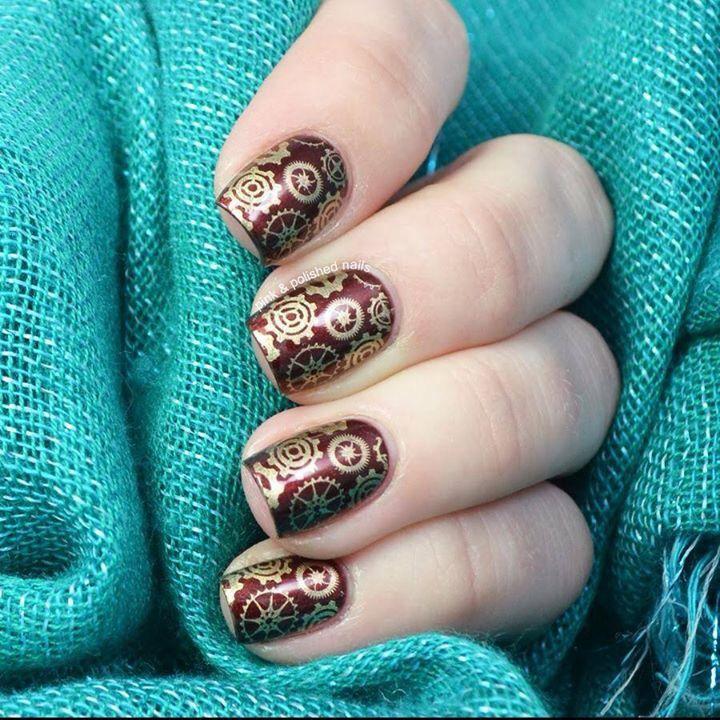 Die besten 25 steampunk nails ideen auf pinterest schne ngel steampunk nails nail art pink polished nails prinsesfo Gallery