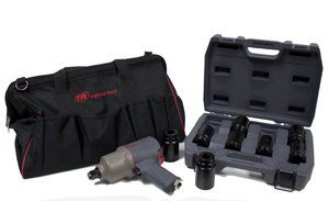 "Ingersoll Rand IRT2145QIMAXK 3/4"" Air Impactool with 3/4"" Drive Socket Set and Tool Bag Kit. Includes Ingersoll Rand IR 20"" Heavy Duty Tool Bag TB2 and Ingersoll Rand SK6H8L 3/4-Inch Drive 8-Piece SAE Deep Impact Socket Set. 1,350 ft-lbs. maximum reverse torque from a tool that weighs just 7.4 lbs. and is compact enough to access tight spaces. An air motor that's 16% more efficient than its predecessor and an easy-to-clean inlet screen means less downtime, better tool performance, and…"