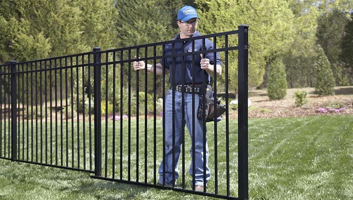Lowe's helpful hints on installing aluminum fencdes