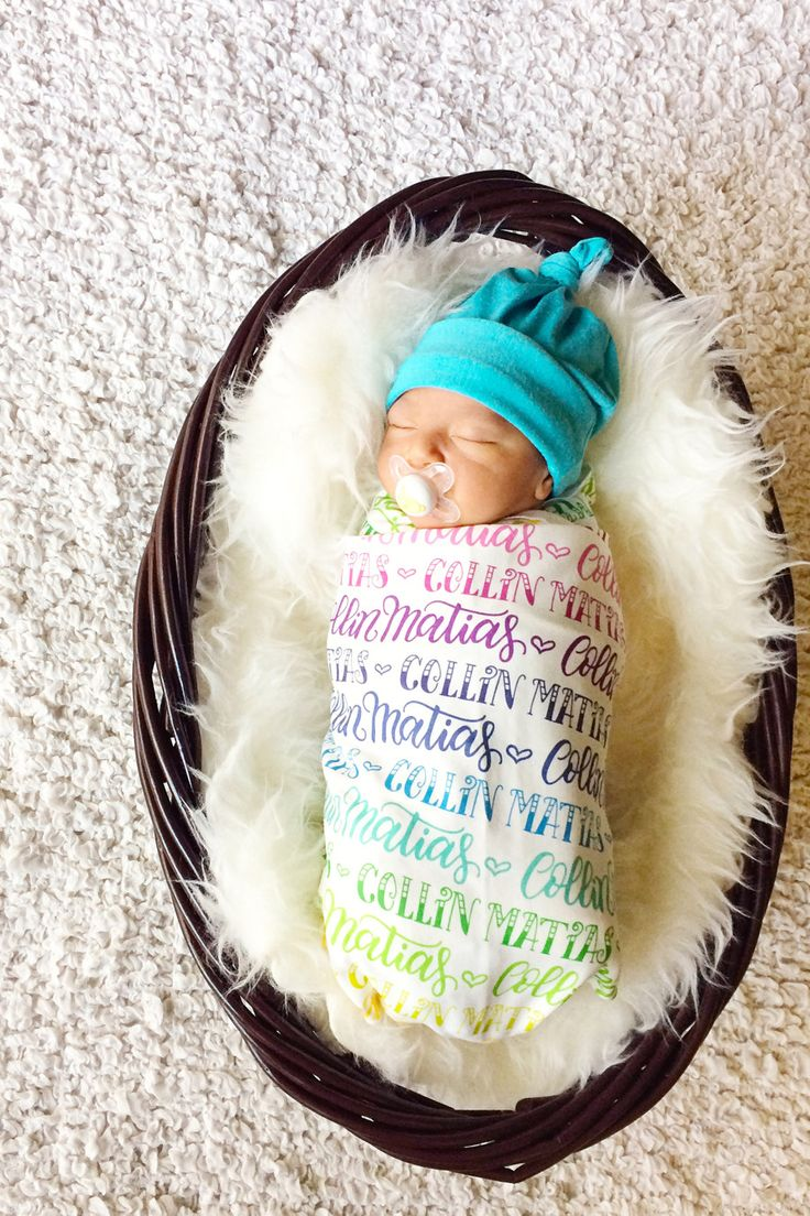 This hand-lettered swaddle blanket is the perfect customized present for your…