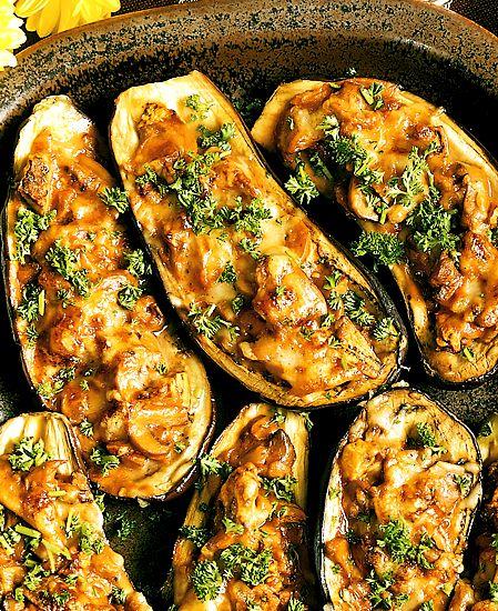 Fylld aubergine | Recept.nu