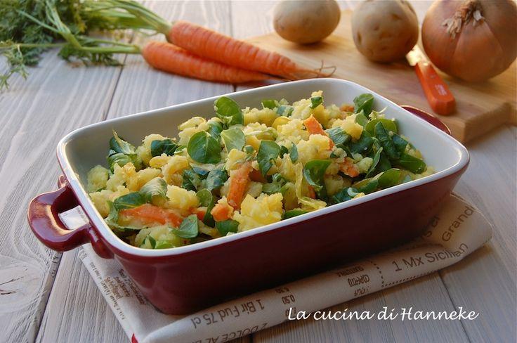 """Purè di patate, carote e valeriana, """"stamppot"""""""