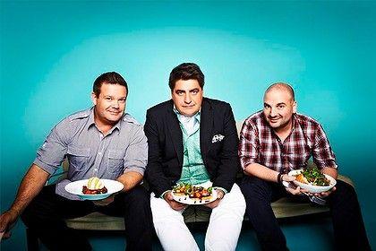 The hosts of MasterChef Australia - Gary, Matt & George
