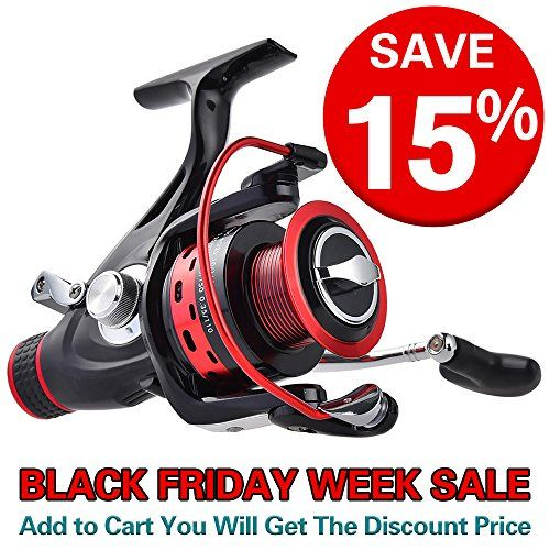 [Thanksgiving Sale]KastKing Sharky Baitfeeder Spinning Fishing Reel - 2 Spools - Carbon Fiber Drag - 33 LB Max Drag - 10+1 BBs - Best Front Drag and Rear Drag Spinning Reels for Carp, Catfish Outdoor Store KastKing Sharky Baitrunner fishing reels bring top of the range at an affordable price to live liner anglers.   The KastKing Sharky Baitfeeder reel is for anglers who want a live liner reel for fishing live bait or drifting cut bait in current. Sharky's baitfeeder features are perfect for…