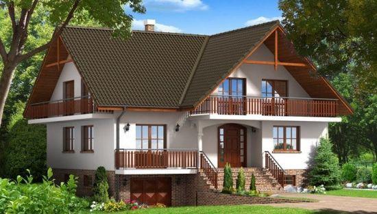 Proiect de casa cu beci si garaj -locuinte mai spatioase