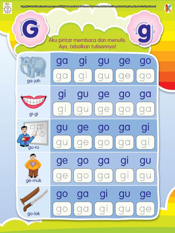 Membaca dan Menulis Huruf G