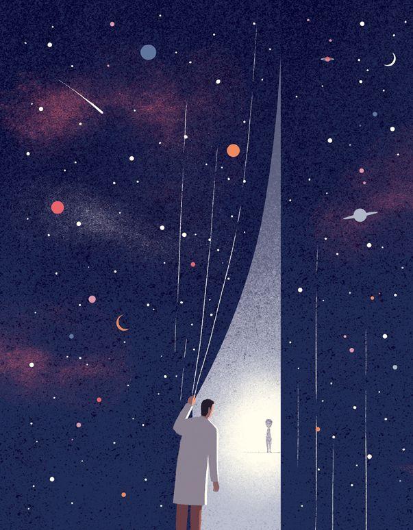 Davide Bonazzi- ET life. Client: Columbia University magazine. AD Eson Chan. Conceptual, editorial illustration http://wvw.salzint.com/davide-bonazzi.html