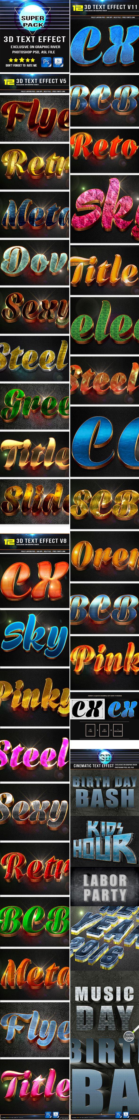 3D Bundle Text Effect