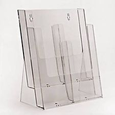 2 Tier A4 Portrait Leaflet Holder With Dividers
