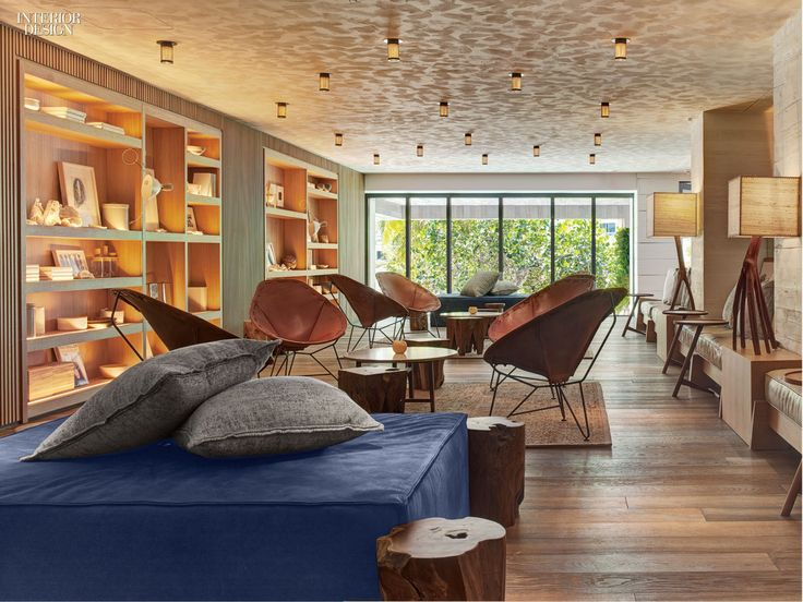 Chairs In The Lounge At Beachcraft Restaurant Have Seats Fireproofed Saddle Leather Photography By LeatherInterior Design MagazineLounge
