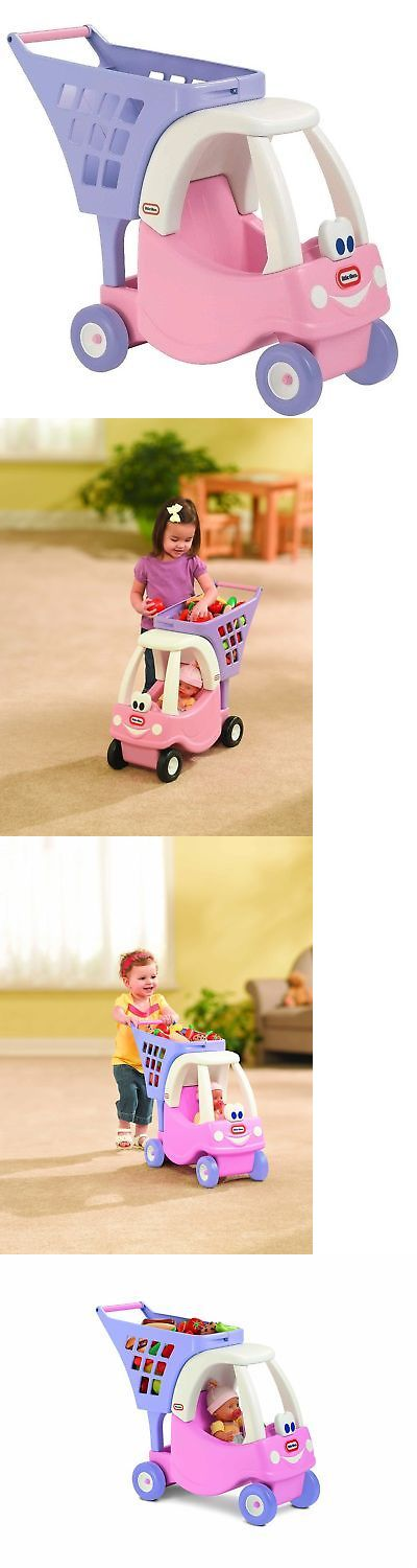 Child Size 2574: Little Tikes Cozy Shopping Cart Pink Purple -> BUY IT NOW ONLY: $135.05 on eBay!