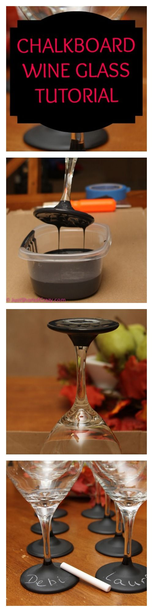 chalkboard wine glass tutorial... you'll love these, they are great to have at parties!!
