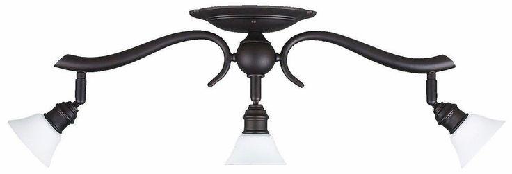 Drop #Light with Flat Opal Glass Shades Oil Rubbed Bronze Living Room #Lighting  #Modern #ebay