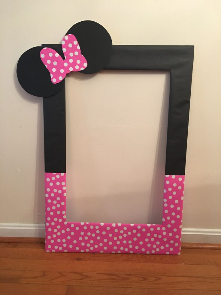 Best 25 diy photo booth props ideas on pinterest photobooth my diy photo booth prop frame for averys second birthday minnie mouse solutioingenieria Images