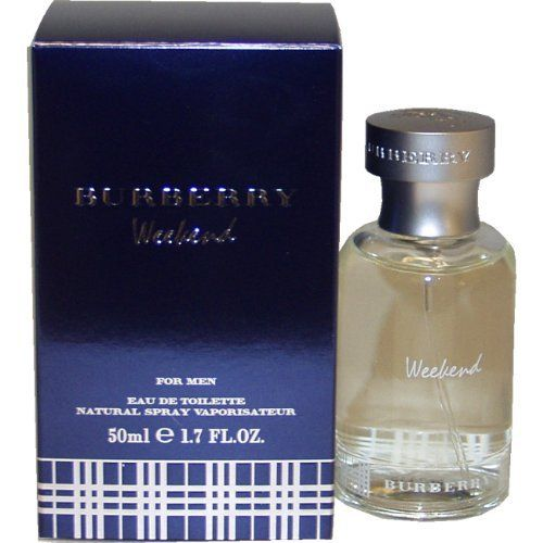 Weekend By Burberry For Men Edt Spray 1.7 Oz by Burberry. $27.59. Burberry Weekend by Burberry for Men. Burberry Weekend by Burberry for Men - 1.7 oz EDT Spray. WEEKEND by Burberry for Men EDT SPRAY 1.7 OZ cedarwood, tangerine, musk, iris, and rose.Whenapplyingany fragrance please consider that there are several factors which can affect the natural smell of your skin and, in turn, the way a scent smells on you. For instance, your mood, stress level, age, body chemi...