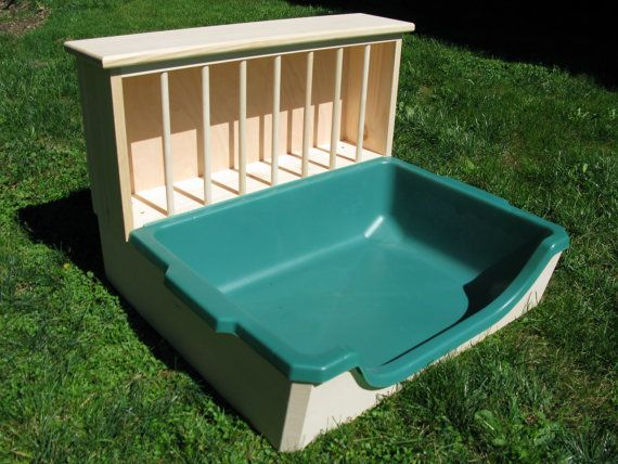 XL Easy Entry Hay Feeder / Litter Pan Combo by BunsBedsAndBeyond #EtsyRabbits