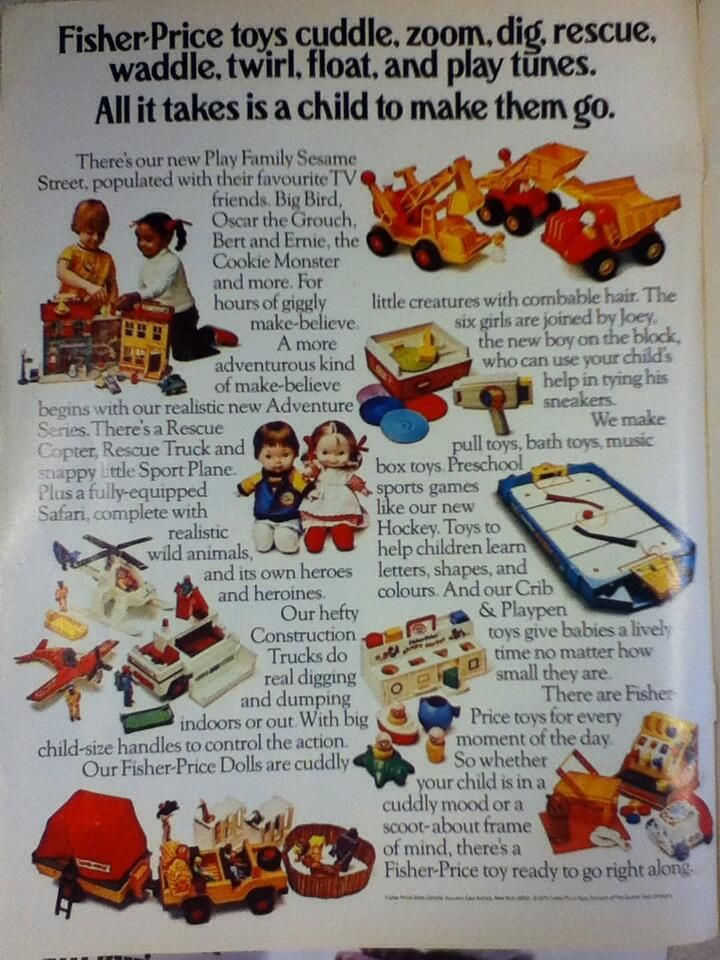 Fisher Price Advert from 1976 (Canadian Living magazine)