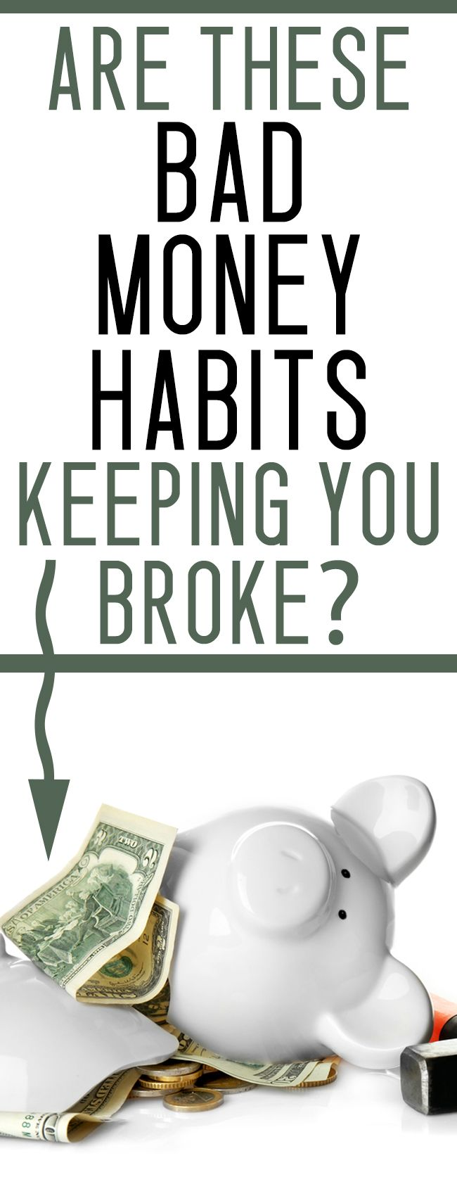 Have trouble saving money? Are these bad money habits keeping you broke? Get a grip on your finances now!