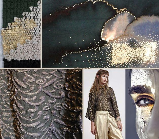 Spalmature lucenti e filati metallici arricchiscono i capi creando contrasti, effetti tridimensionali, geometrie e trame inaspettate. Maggiori dettagli su www.fashionforbreakfast.it