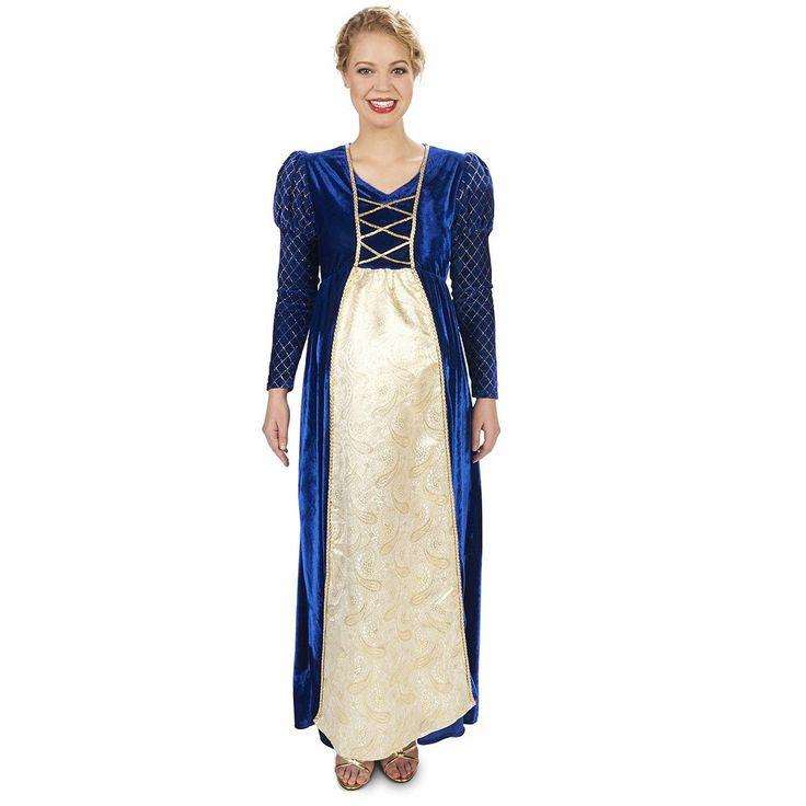 Adult Maternity My Lady Renaissance Costume, Size: Medium/Large, Multicolor