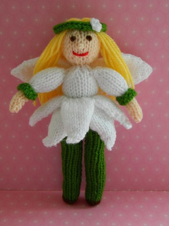 Looking for your next project? You're going to love Doll Knitting Pattern - Snowdrop Fairy by designer J.E. Marshall.