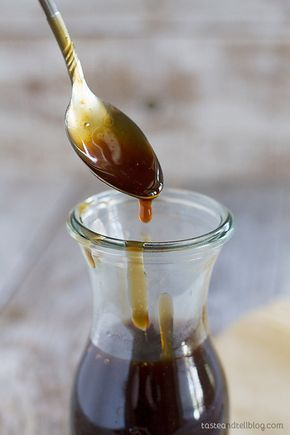 An easy homemade teriyaki sauce recipe made from pantry staples. This sauce is bold and thick and is great as a marinade or as a sauce.