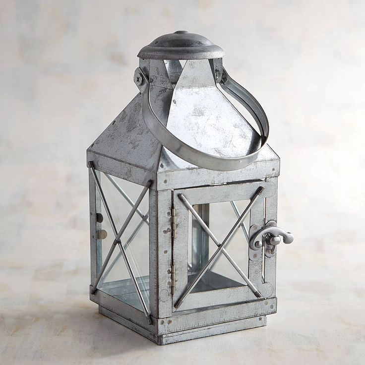 galvanized metal house lantern - HD 1500×1500
