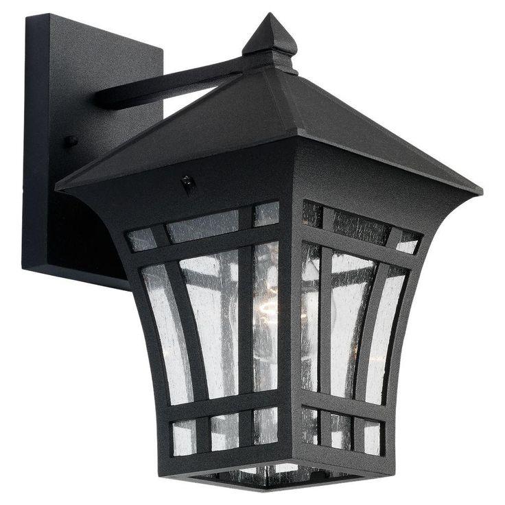 Herrington 1 Light Black Outdoor Wall Fixture 19