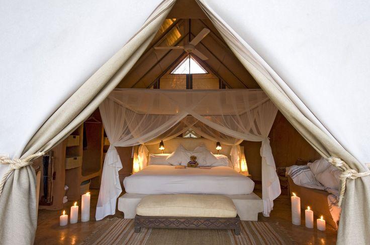 Garonga tented bedroom - South Africa