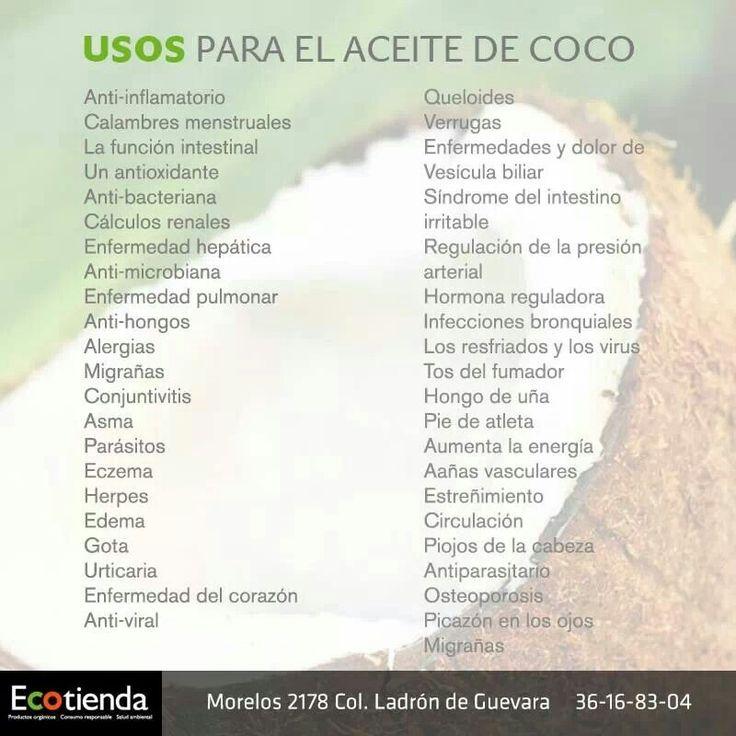 Usos del aceite de coco