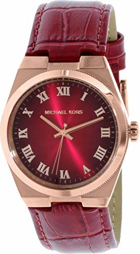 e449729c2a82 Michael Kors Channing Red Dial Red Leather Unisex Watch MK2357   See this  great product. (This is an affiliate link)