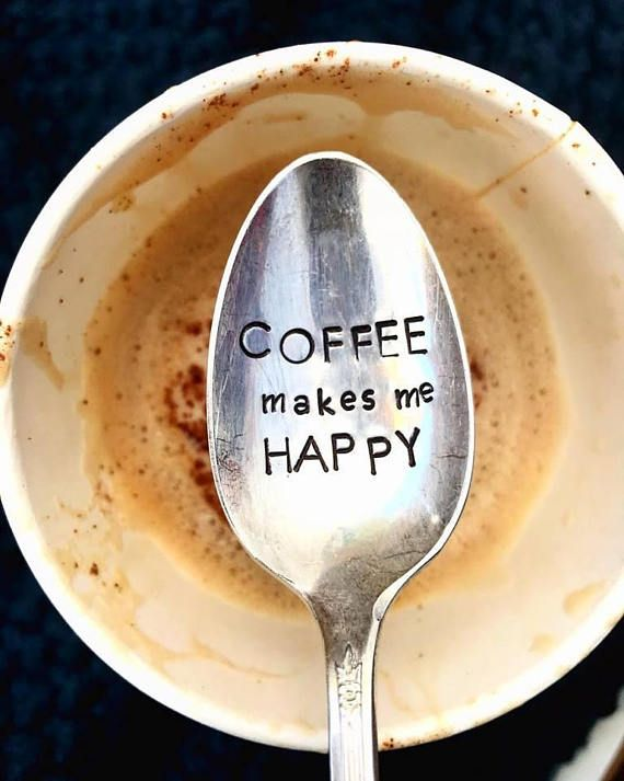 coffee meme - Coffee Makes Me Happy - Coffee Spoon - Latte - Camper Gift ... #happyCoffee