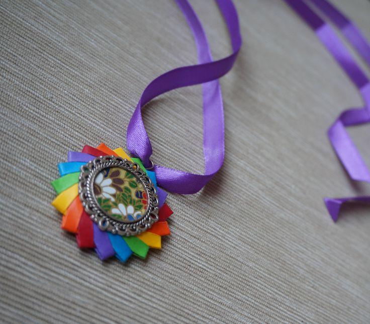 Modular origami necklace
