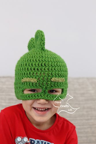 Ravelry  Gekko Mask Hat (PJ Masks) pattern by Dove Crafts UK  062a8a12eac