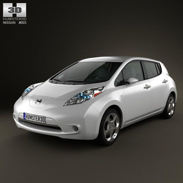 nissan leaf 2011 3d model from humster3d com  price   75
