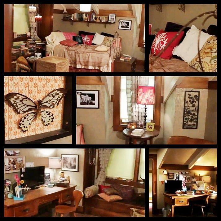 Aria Montgomery tv bedroom. Shabby-boho-chic. It looks like she's tucked away in the attic