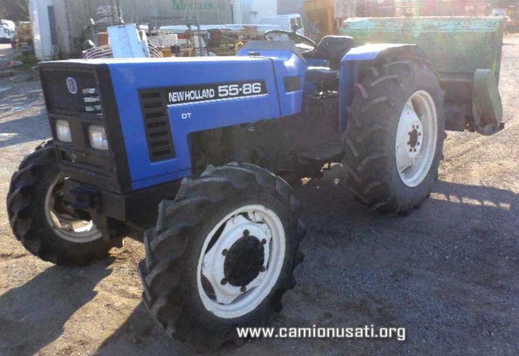 Agrifull 55 DT by Fiat (1992) ore 4100 trattore gommato con trincia e protezione rops | Camionusati web portal
