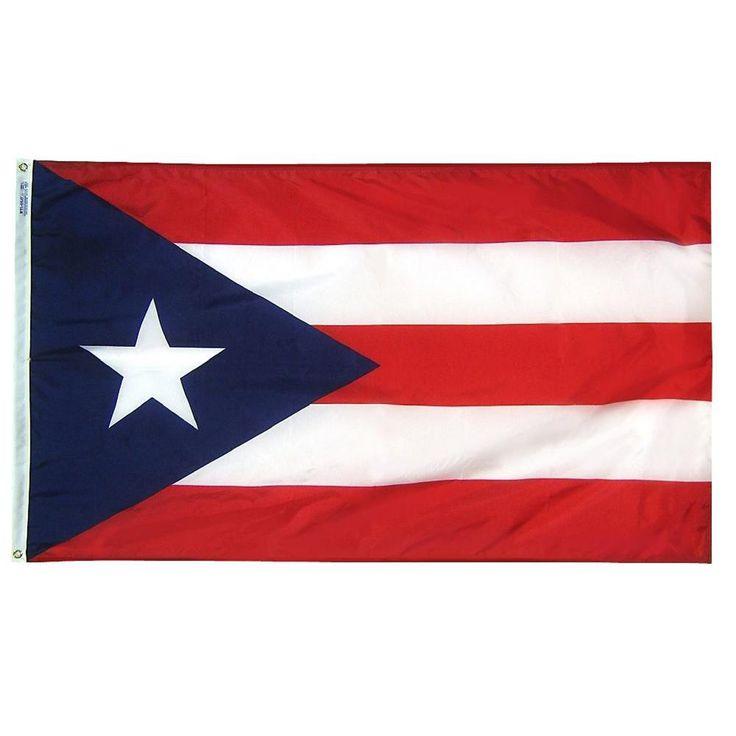 Annin Flagmakers 3 Ft X 5 Ft Puerto Rico Flag 146760 Puerto Rico Flag Coast Guard Flag