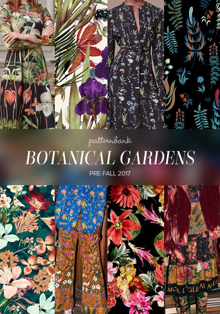 Adam Lippes / Floral Love by Angela23 / Altuzarra / Lovely Flowers Vector by Marilia / Tropical 11 by Bauhaus / Gucci / Mystical Garden by Flavia Lozano / Gucci