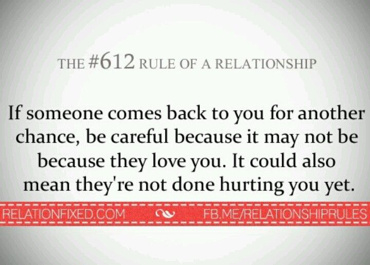 Rules of Relationships...