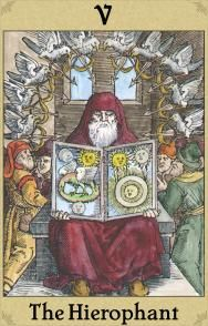 The Hierophant - Alchemical Emblem Tarot-  F J Campos  -  Adam McLean  2006