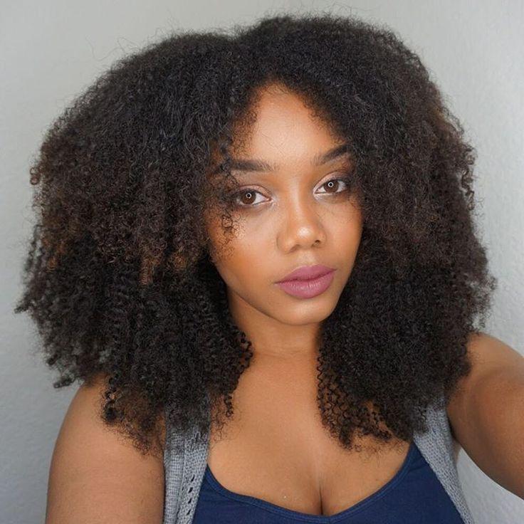 layered coily textured natural hair U part wig