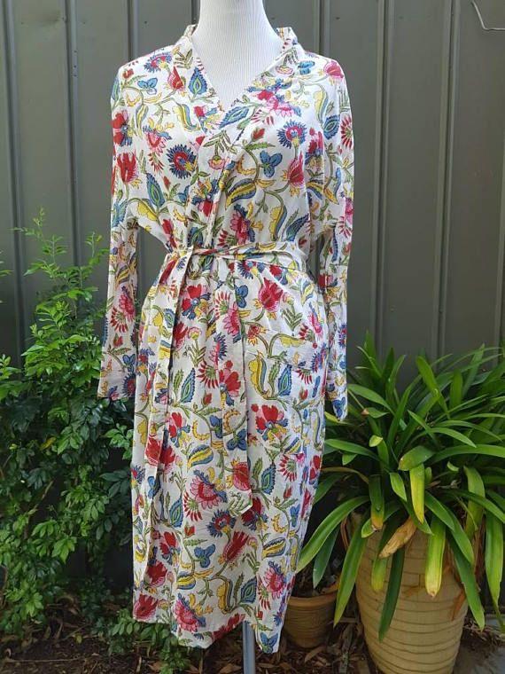 Check out this item in my Etsy shop https://www.etsy.com/au/listing/560541310/cotton-robe-bathrobe-kimono-indian-block