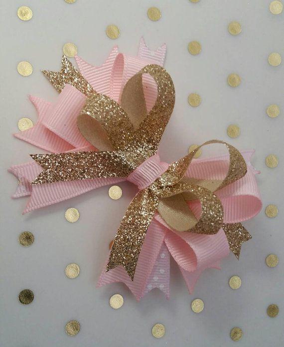 Oro y rosa arcos, princesa partido, apoyo de foto, cinta, arcos de brillo real…