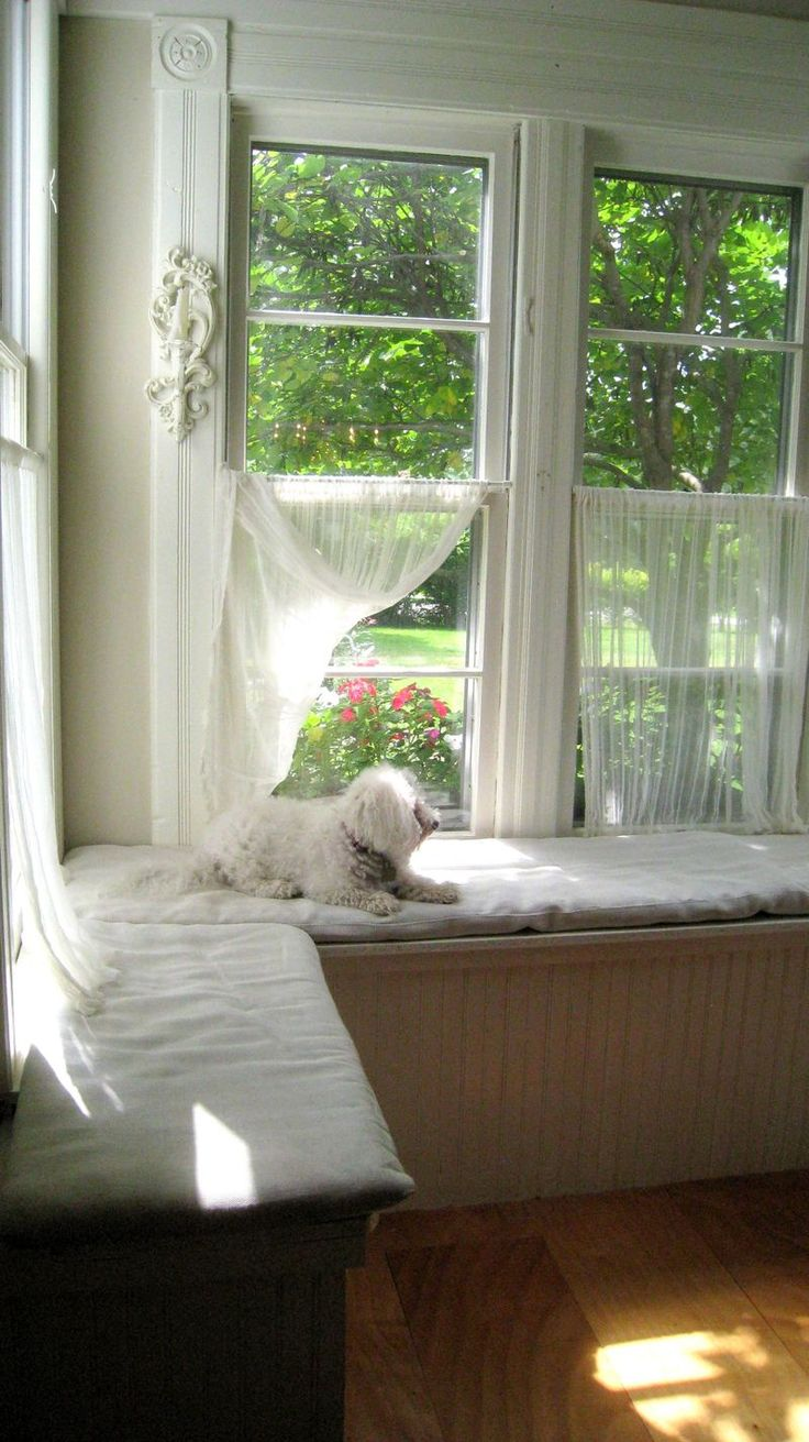 7 best images about breakfast nook curtains on pinterest for Window seat curtains