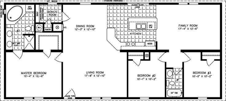 1600 sq ft the tnr 46015b manufactured home floor plan for 1600 sq ft ranch house plans