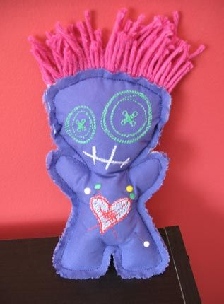 Cute & funky DIY voodoo doll :)